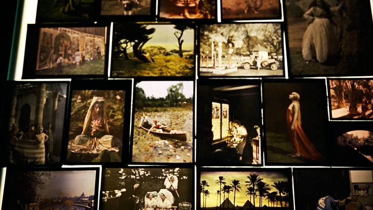 Autochromes on display in the vintage collection of National Geographic supervised by Bill Bonner. Excerpt from video by Kathryn Carlson.