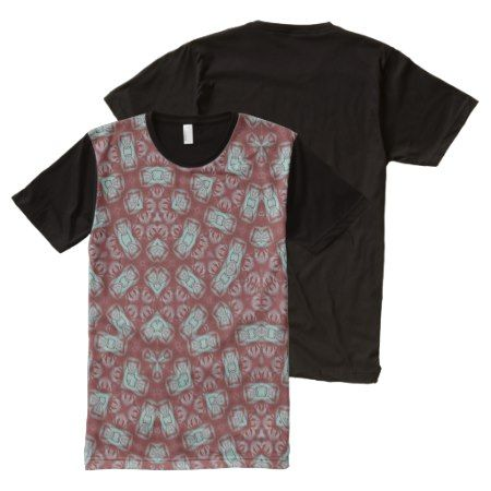 Abstract Pattern red All-Over-Print T-Shirt - click/tap to personalize and buy