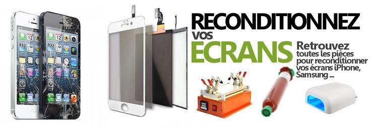 Re-conditionnez vos écrans cassés, réparez les écrans d'iPhone ou des Samsung avec les outils et les pièces vendues sur cPix