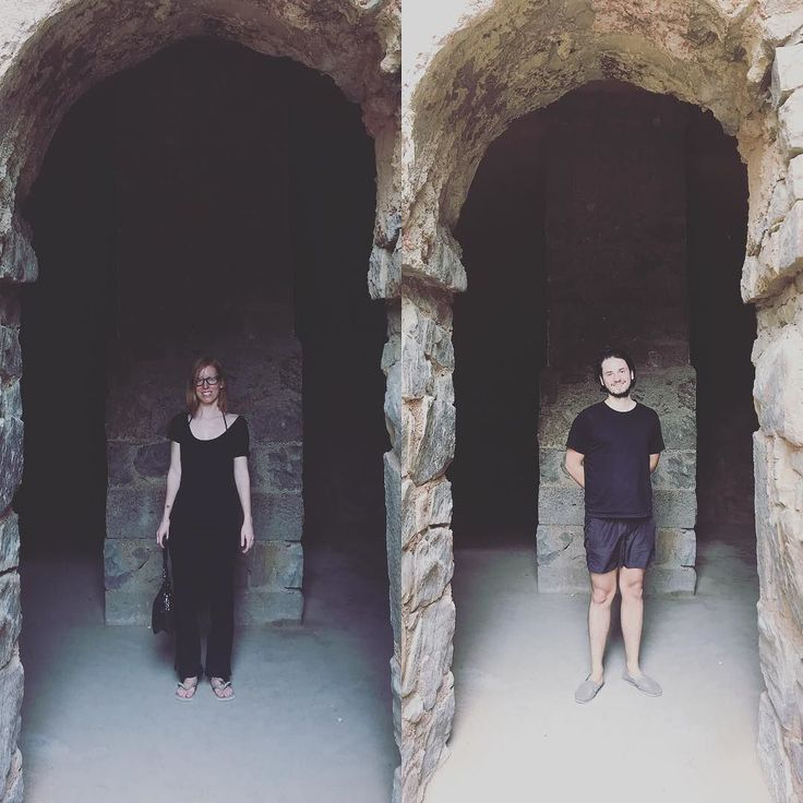 The Witch and the Techno in Black. Last day in India. . . . #techno #artist #allinblack #black #clothing #fashion #hauzkhas #hauzkhasvillage #india #delhi #tomb #vj #musician #witch #priestess #witchcraft #tarot #producer #couple #thirsty #healthy #travel #travelphotography #travelblogger