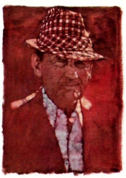 Bernie Fuchs painting of Alabama coach Bear Bryant