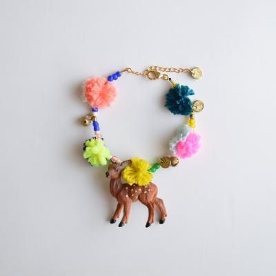 Las Teje y Maneje: ANIMALS WITH POM POM & YARN BRACELETS