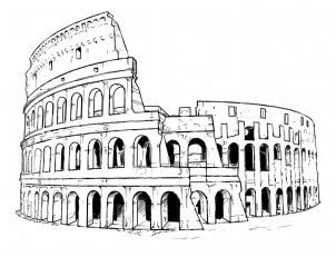 how to draw the colosseum