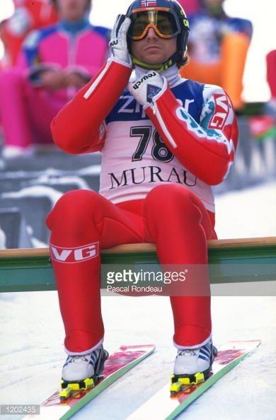 Espen Bredesen of Norway prepares for a Ski Jump event in Murau Austria Mandatory Credit Pascal Rondeau/Allsport