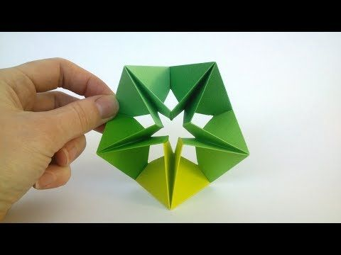 How to make a Modular Origami Star - Origami Step by Step (Easy) - YouTube