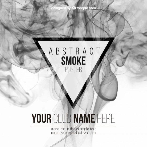 Cartel abstracto del humo Vector Gratis