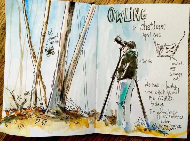 Sketching birders in the wild.
