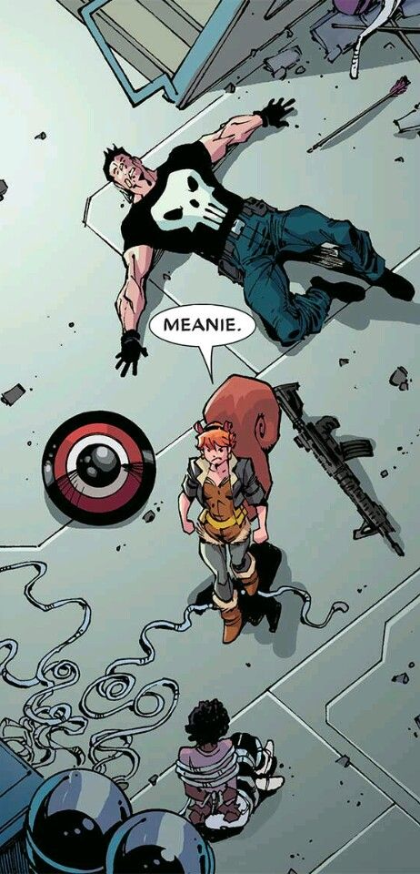 NUTS !!!  ... Punisher gets his ass kicked by Squirrel Girl !!! °°
