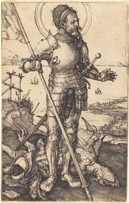 Albrecht Dürer, 'Saint George Standing,' ca. 1507/1508, National Gallery of Art, Washington, D.C.