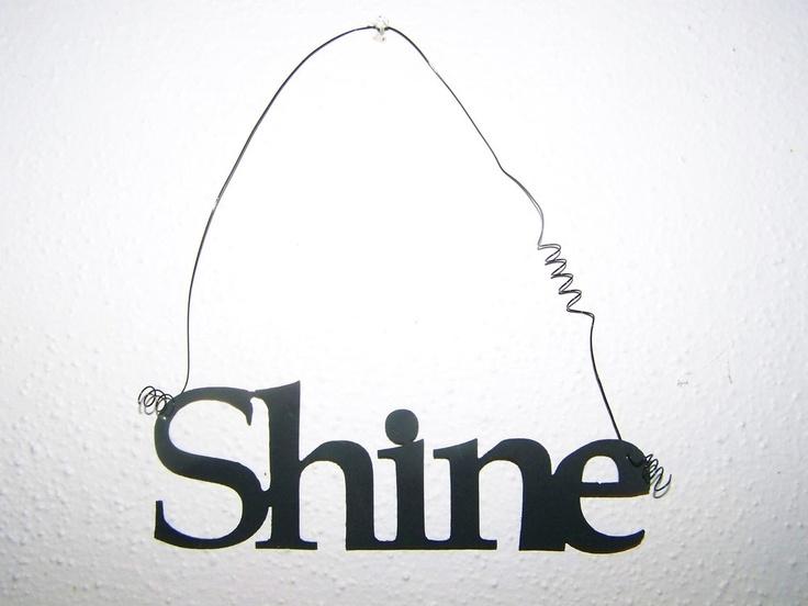 Inspirational Word SHINE Wall Hanging Home Decor Metal, $5.0