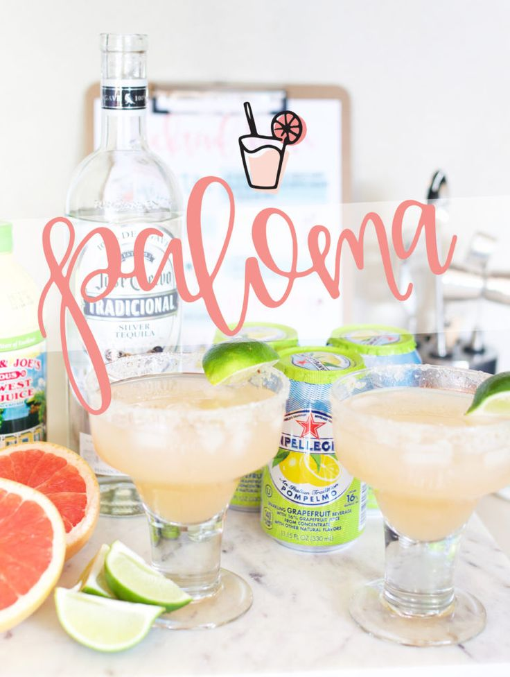 The Paloma - the Marg's sassy sister -Jose Cuervo (silver-100% agave -San Pellegrino Grapefruit Soda -Fresh Grapefruit -Lime Juice Cheers to the Weekend!
