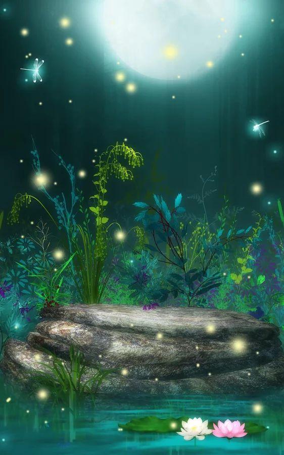 fireflies live wallpaper screenshot anime scenery on live wall id=37558