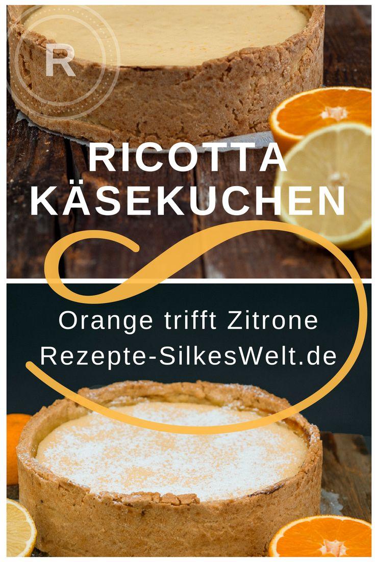 cremiger Ricotta Käsekuchen mit Zitrone und Orange. Hol Dir ein Stück Süden auf den Teller.