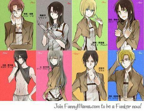Genderbender omg genderbend Mikasa looks hot there ;)