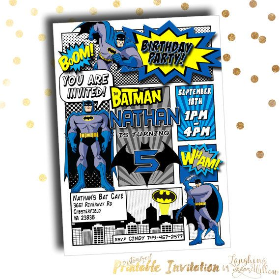The 25 best batman invitations ideas on pinterest batman party batman invitation batman birthday party by laughingwillowdesign pronofoot35fo Image collections