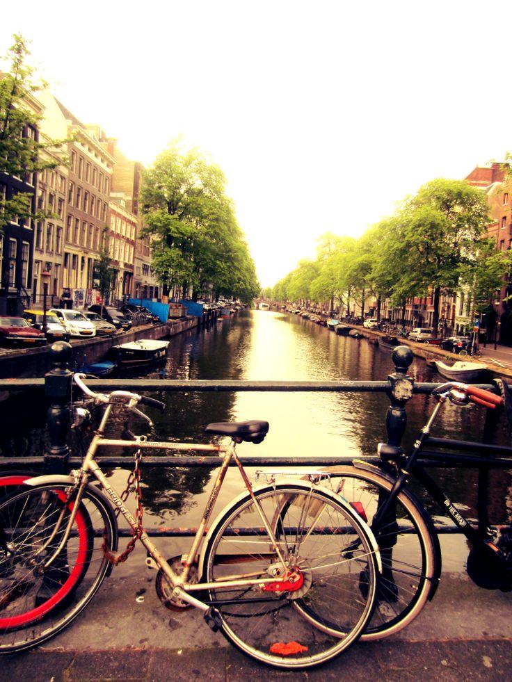 Amsterdam, canal, bike