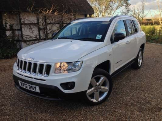 Used 2012 (12 reg) White Jeep Compass 2.2 CRD Limited 5dr for sale on RAC Cars