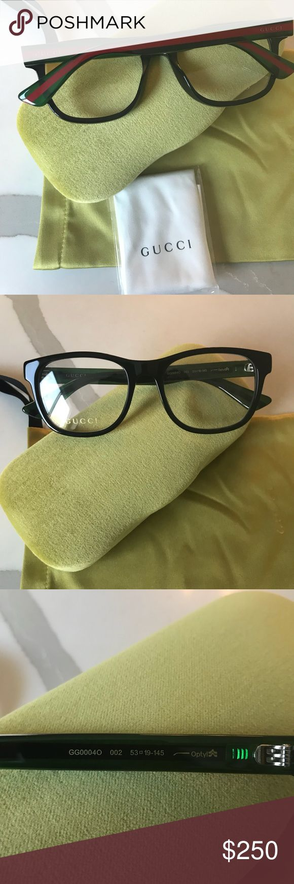999b25cf579f8 New Gucci Eyeglasses Gg 1008 Gg1008 51n Black 55mm Rx Authentic