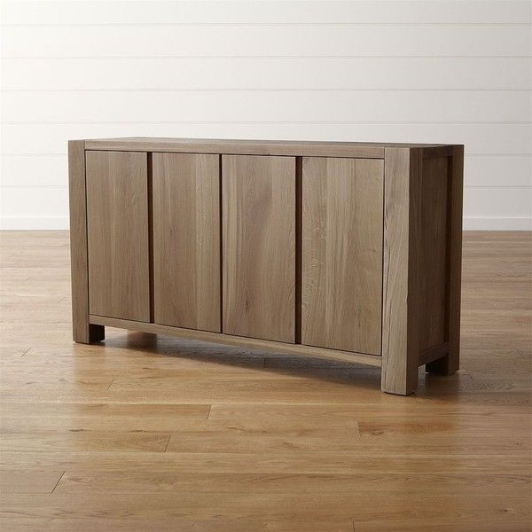 Crate & Barrel Big Sur Smoke Sideboard ($1,899) ❤ liked on Polyvore featuring home, furniture, storage & shelves, sideboards, crate and barrel furniture, crate and barrel and crate and barrel buffet