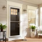Andersen 36 in. x 80 in. 2500 Series White Universal Self-Storing Aluminum Storm Door with Nickel Hardware HD2SSN36WH at The Home Depot - Mobile