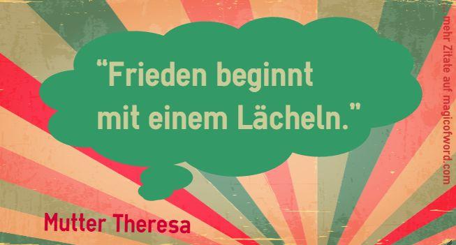 Zitat von Mutter Theresa