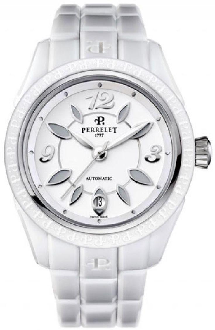 Женские часы Perrelet A2041/A Classic Eve - белые - швейцарские женские наручные часы