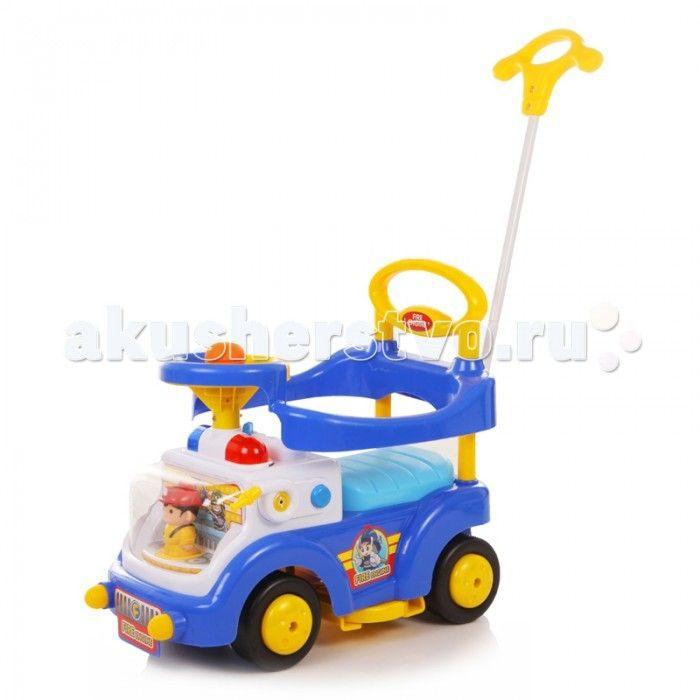 """Каталка Baby Care Fire Engine  Baby Care Fire Engine - суперлёгкая и очень надежная каталка.    Машинка выполнена таким образом, чтобы быть максимально безопасной для малыша. У нее отсутствуют острые углы.  Есть игрушка """"Пожарник за рулем"""", поворотный руль с музыкальной кнопкой и световые эффекты. Размер каталки: длина (с ручкой) 67 см, ширина 38 см, высота (с ручкой) 90 см.  Вес: 4.4 кг. Максимальная нагрузка: 27 кг. Размер колёс: 14 см."""