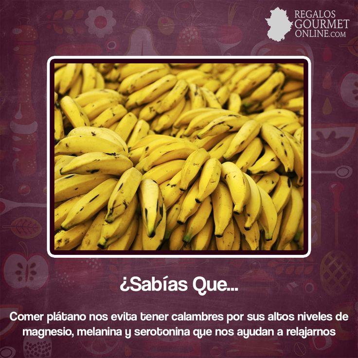¿#SabíasQue Comer plátano nos evita tener calambres? #Curiosidades