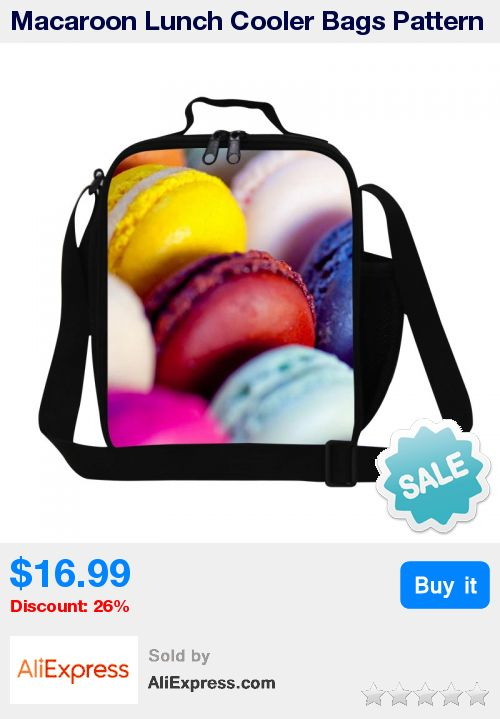 Macaroon Lunch Cooler Bags Pattern for Children Fruit Candy Printing Lunch Bags for Girls Cute Insulated Lunch Bags for Kids * Pub Date: 18:06 Sep 21 2017