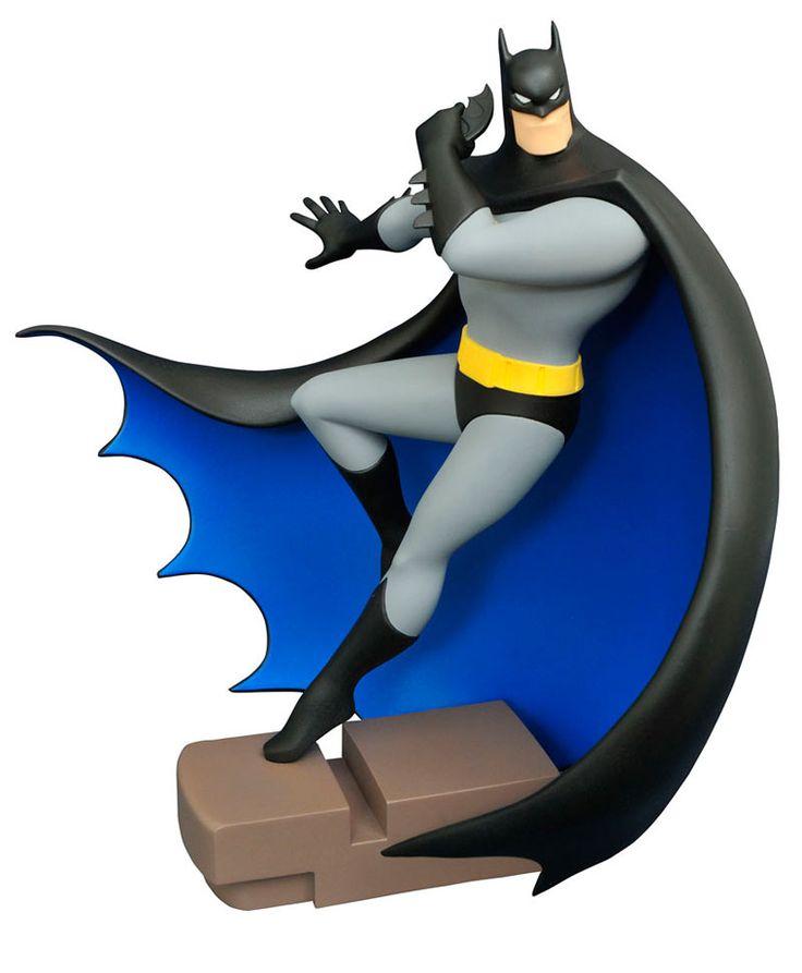 Estatua Batman 23 cm. Batman: la serie animada. Diamond Select Estupenda estatua de Batman de 23 cm, fabricada en material de PVC, 100% oficial y licenciada vista en Batman: la serie animada. Es perfecta como detalle a todos los fans de esta serie.