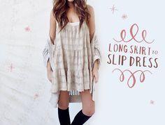 DIY-Skirt-to-Slip-Dress by One of Each Blog