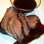 Roast Beef Joint with Red Wine Gravy
