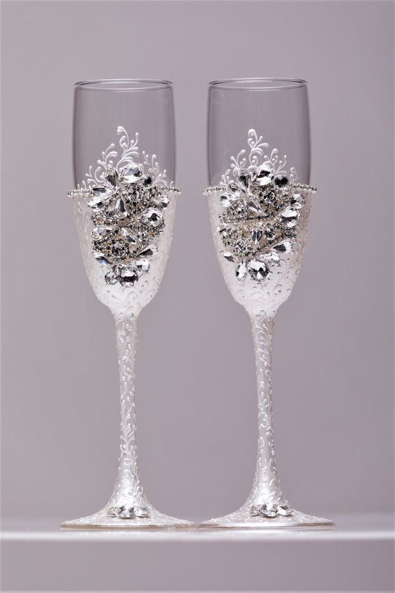 Wedding glasses a collection of ideas to try about weddings personalized wedding gatsby - Unusual champagne flutes ...
