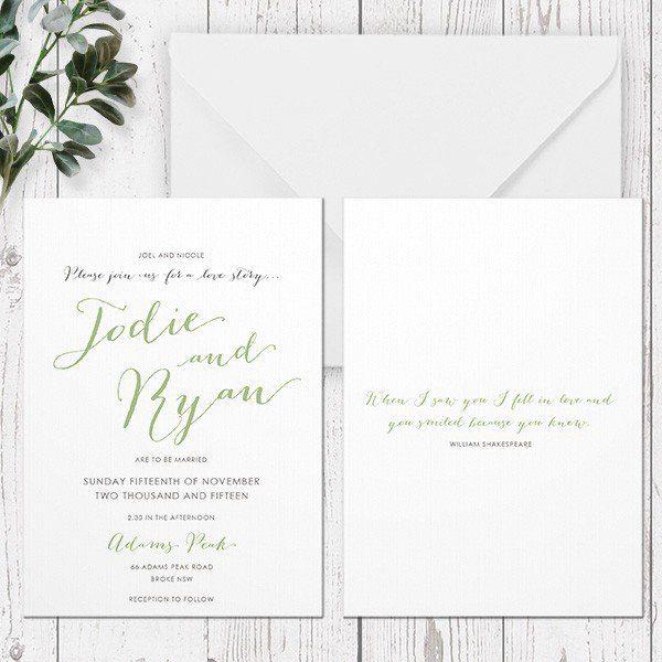 WOODLAND LOVE - WEDDING INVITATION
