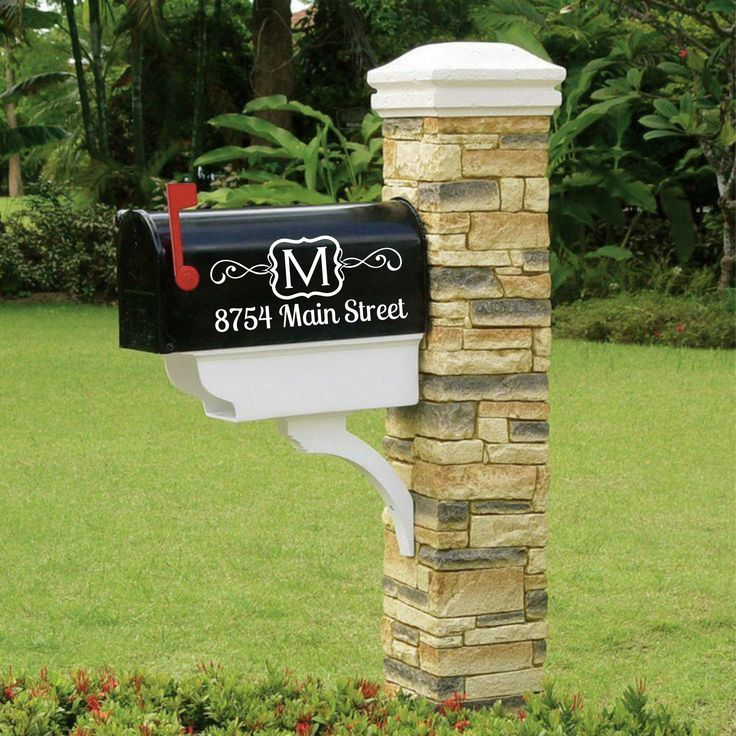 Personalized Monogram Mailbox Decal Sticker. Make your mailbox stand out with these chic mailbox decals. Tons of different colors of vinyl decal to choose from (Viewed in 5th picture). **This listing is for TWO (2) mailbox decals (one for each side of mailbox)**  Decal will fit most standard sized mailboxes and measures approximately 11.5 wide x 5 tall. Please message me if you need a different size. Very easy to apply to your mailbox. Instructions will be included with decals. No tools or…