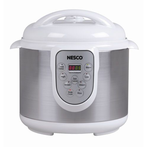 This Nesco 6 quart pressure cooker is attractive and will look great in any kitchen. You will quickly learn this pressure cooker is more versatile than just a pressure cooker. You can use it as a pres