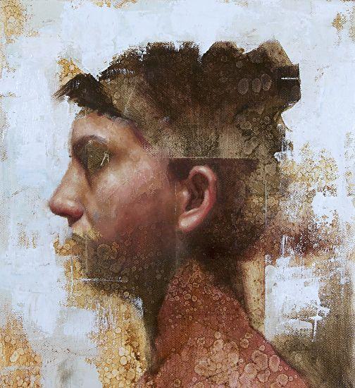 "Profile by John Wentz Oil ~ 11.75"" x 10.75"""