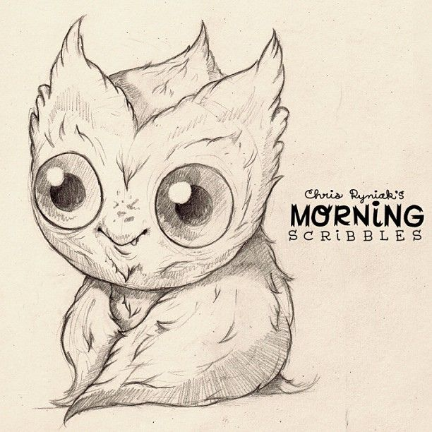 It's Baby Owlbatmonkey Wednesday! #morningscribbles | Flickr - Photo Sharing!