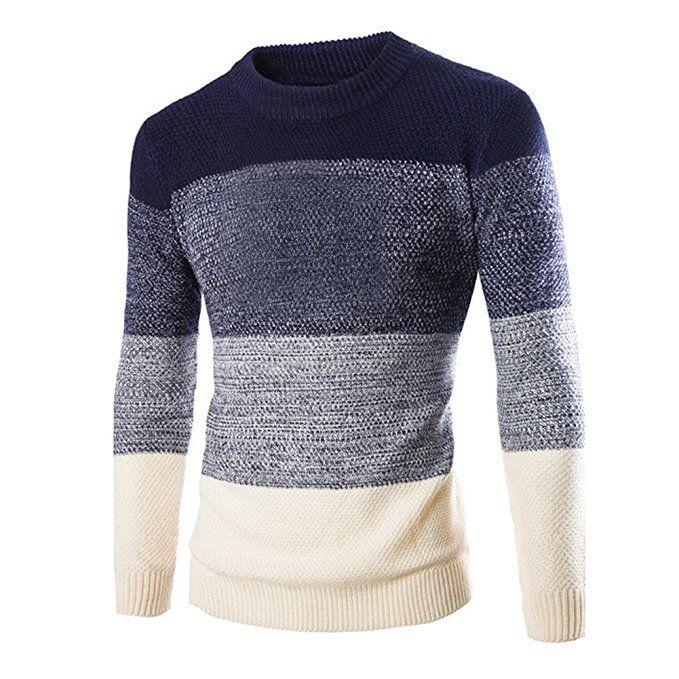 UK Sell Mens Long Sleeve T-shirt Sweatshirt Sweaters O-neck Pullover Jumper Tops