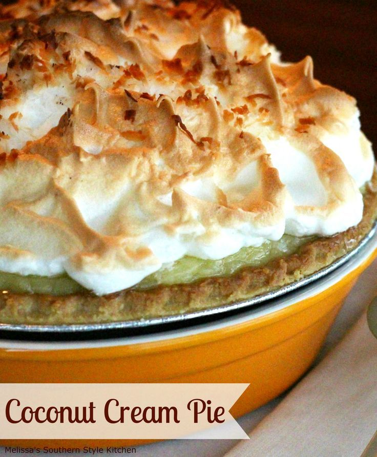 Creamy and dreamy the filling for this Coconut Cream Pie is made completely from scratch. Topped with a mile high meringue it's guaranteed to be gone by sunrise.