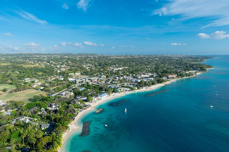 Gorgeous view of Holetown on the west coast of Barbados.