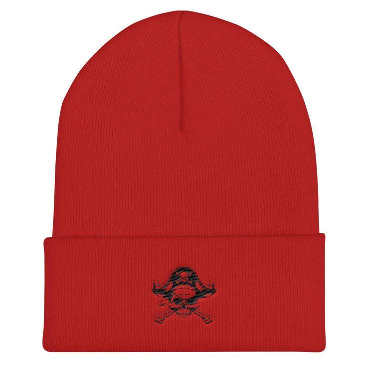 PIRATE'S BEANIE: Jolly Roger, Skull & Crossbones, Knit Cap, Winter Hat, Christmas Gift, Gift For Pirates, Gift For Guys, Christmas Gifts by VinylLoversUnite on Etsy