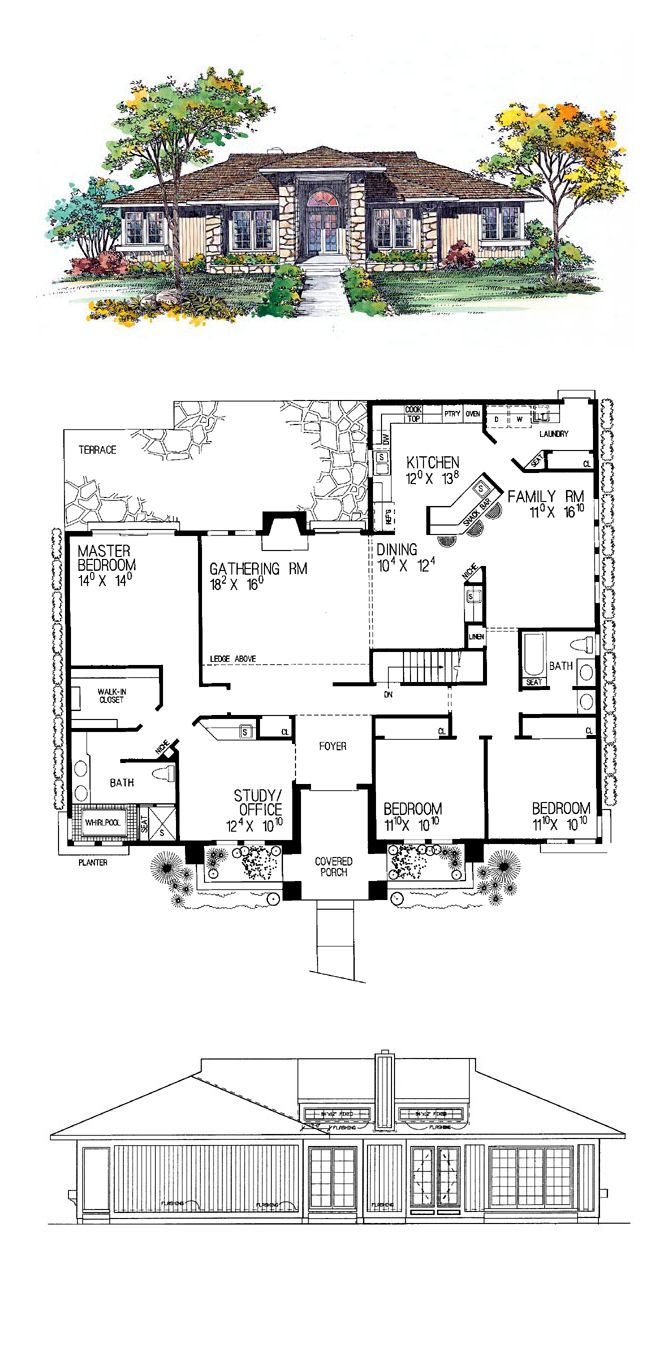 I like this but would add basement and one more window on the rear wall of the…