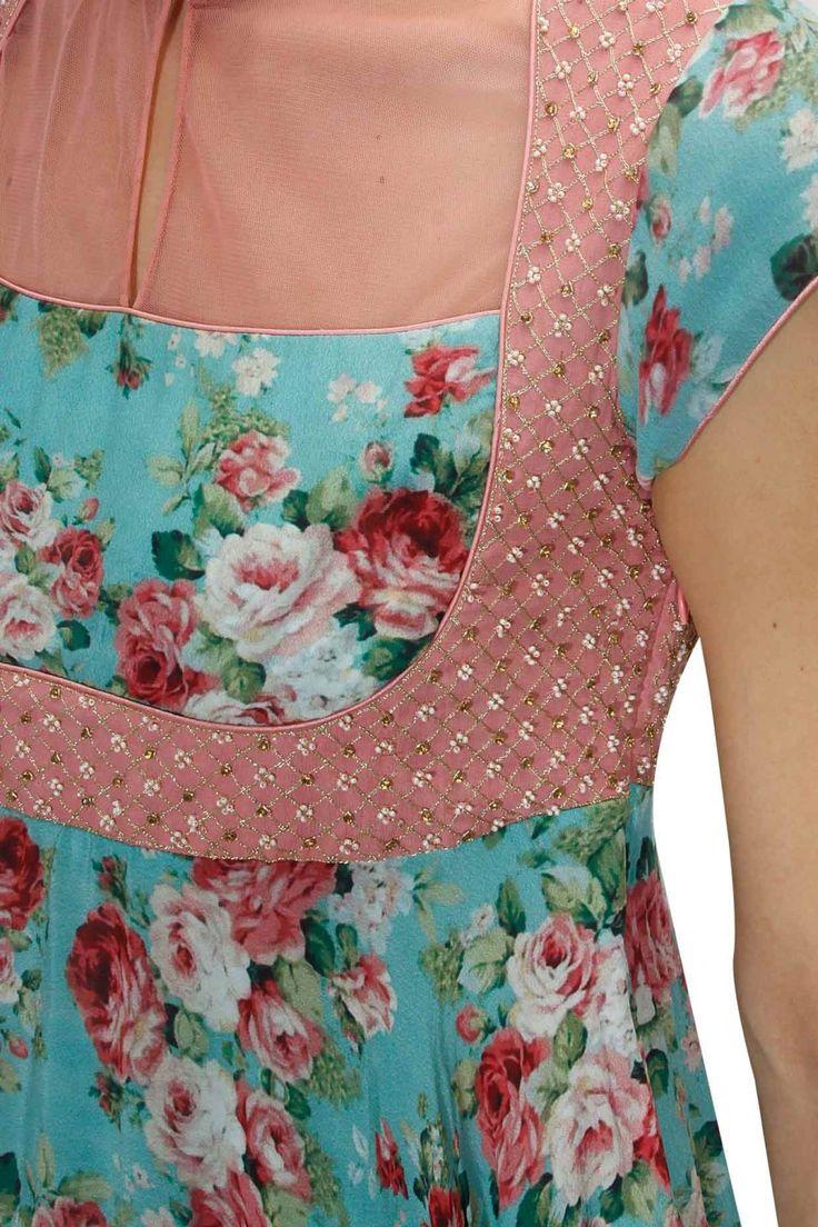 vest type dress cut