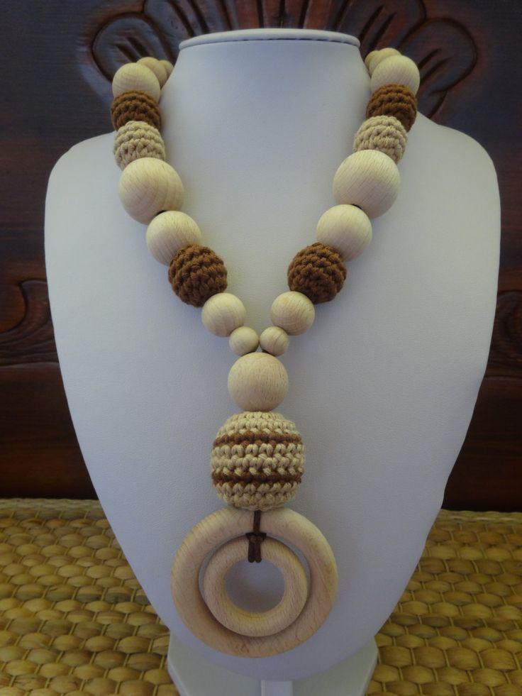 Collana Allattamento Rita Dentizione Uncinetto Crochet Babywearing di MagiadelleMamme su Etsy