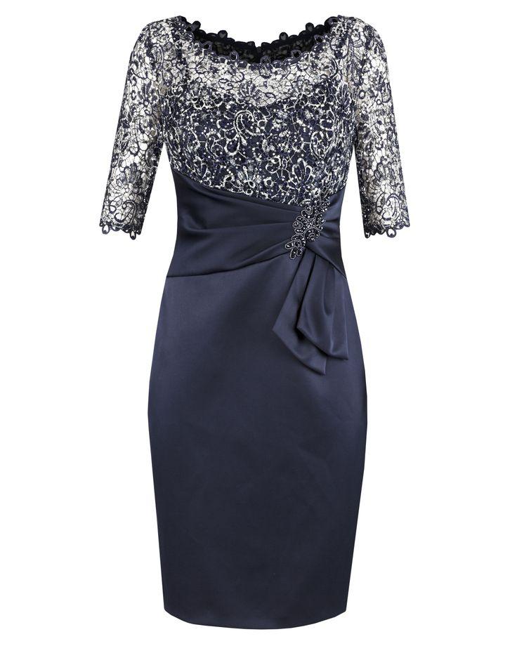 Twilight Lurex Lace & Satin Dress