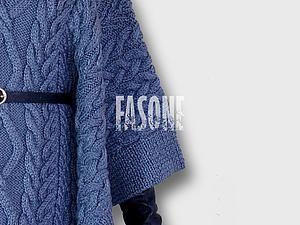 Как связать красивое пончо - _ ♕ FASONE ♕ _ fashion studio - Ярмарка Мастеров http://www.livemaster.ru/topic/1536229-kak-svyazat-krasivoe-poncho