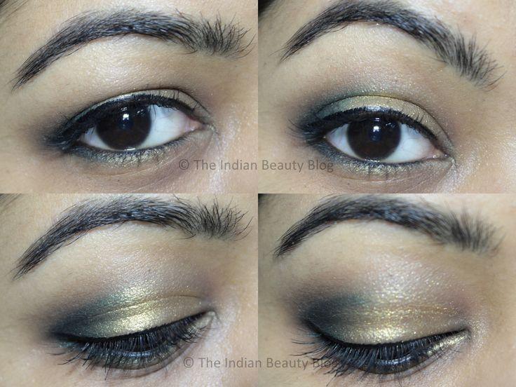 golden green smokey eye #smokeyeye #totorial