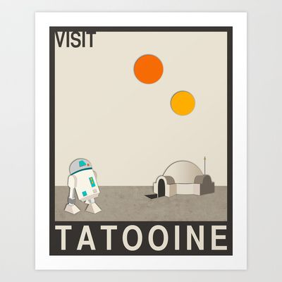 Visit Tatooine Art Print by Jazzberry Blue - $19.00: Visit Tatooin, Quality Art, Products Avail, Society6 Com, Art Prints, Art Poster, Tatooin Art, Jazzberri Blue, Buying Visit