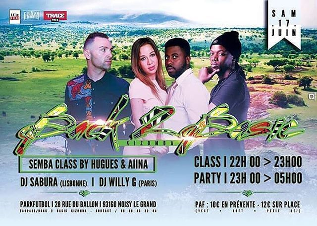 No dia 17 de junho temos mais um Back2Basic com o Dj Sabura(Lisboa) e Dj Willy G(Paris) na cabine e tambem terás a oportunidade de aprender a dançar semba.TRACE Toca A Paixão Da Musica! #tracetoca #back2basic #apaixaodamusica @kattykat2013